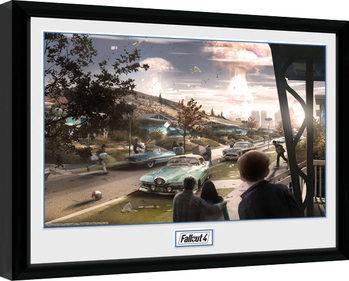 Fallout 4 - Sanctuary Hills Panic Poster enmarcado