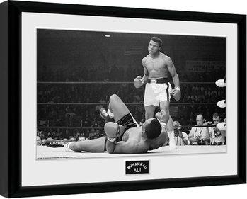 Muhammad Ali - Liston 2 Poster enmarcado