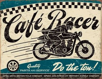 Metallschild Cafe Racer