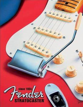 Metallschild Fender - Built to Inspire