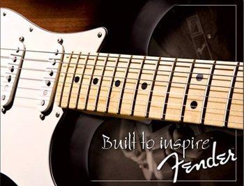 Metallschild Fender - Strat since 1954