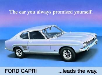 Metallschild FORD CAPRI