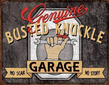 Metallschild Genuine Busted Knuckle