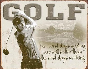 Metallschild GOLF - best days
