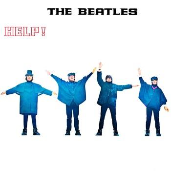 Metallschild HELP! ALBUM COVER