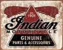 Metallschild INDIAN GENUINE PARTS