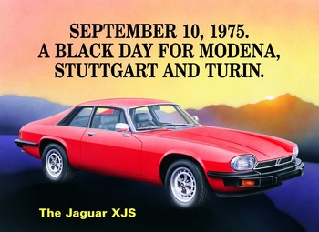 Metallschild JAGUAR XJS