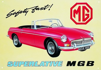 Metallschild MGB