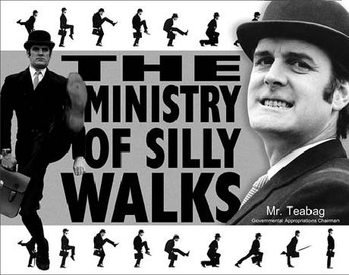 Metallschild MONTY PYTHON - Ministry Of Silly Walks