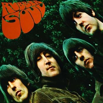 Metallschild RUBBER SOUL ALBUM COVER