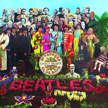 Metallschild SGT. PEPPERS LONELY HEARTS ALBUM COVER