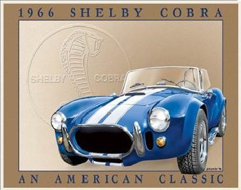Metallschild SHELBY COBRA