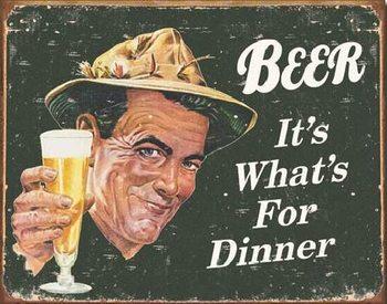 EPHEMERA - BEER - For Dinner Metallskilt