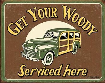 MOORE - WOODY SERVICE Metallskilt