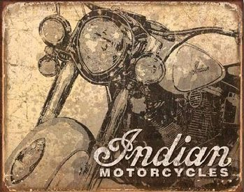 INDIAN - antiqued Metalni znak