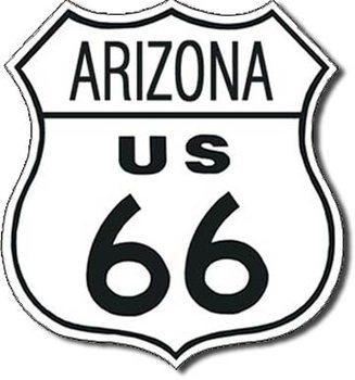 ROUTE 66 - arizona Metalni znak