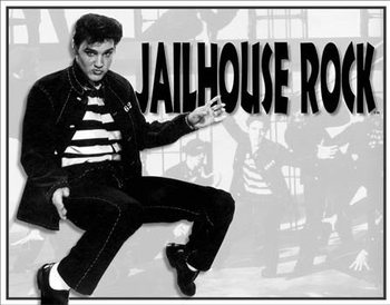 Metalowa tabliczka Elvis - Jailhouse Rock