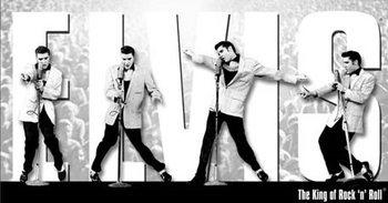 Metalowa tabliczka Elvis Presley - King Montage