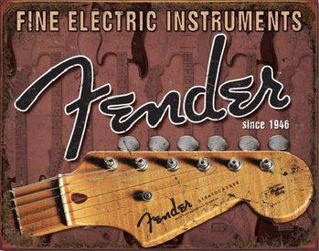 Metalowa tabliczka FENDER - Headstock