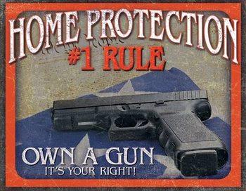 Metalowa tabliczka Home Protection - #1