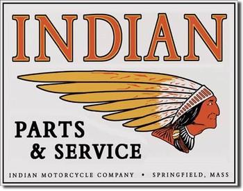 Metalowa tabliczka INDIAN - logo