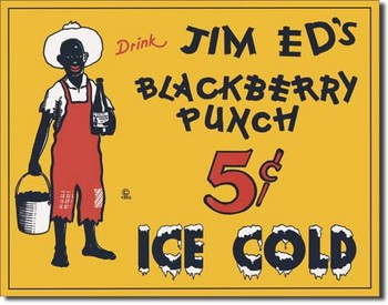 Metalowa tabliczka JIM ED'S BLACKBERRY PUNCH