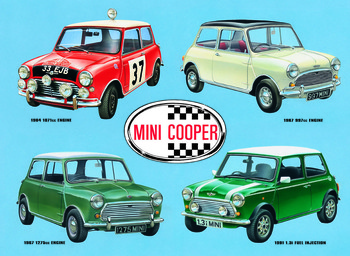 Metalowa tabliczka MINI COOPER COLLAGE