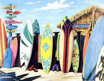 Metalowa tabliczka SURF SHACK