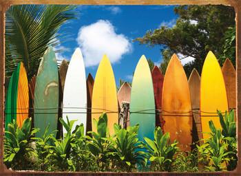 Metalowa tabliczka SURFBOARDS