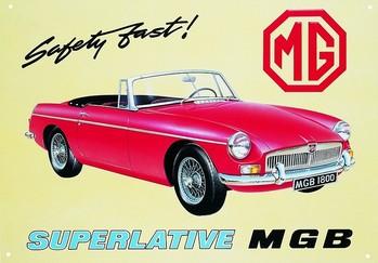 MGB Metalen Wandplaat