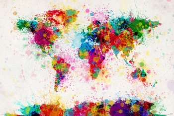 Michael Tompsett - World map - плакат (poster)