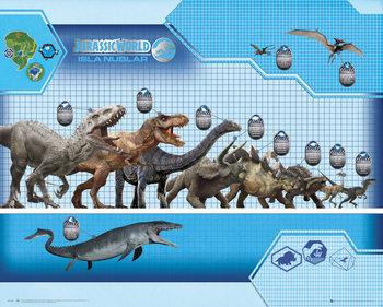 Jurassic World - Size Chart Mini plakat