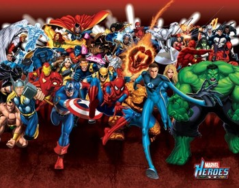 MARVEL HEROES - attack Mini plakat