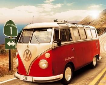 VW Californian camper Mini plakat