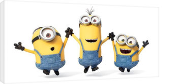 Leinwand Poster Minions (Despicable Me - Jump