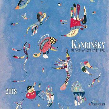 Wassily Kandinsky - Floating Structures  naptár 2018