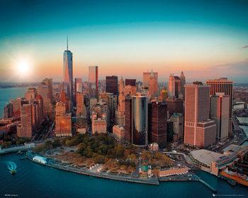 New York - Freedom Tower Manhattan плакат