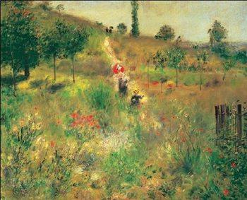 Reprodukce Cesta do kopce vysokou trávou, 1875