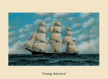 Reprodukce Loď Young America