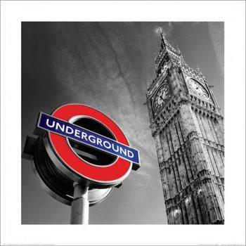 Londýn - Big Ben & Underground Sign Obrázky | Obrazy | reprodukce