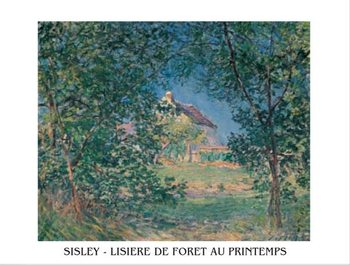 Reprodukce Okraj lesa na jaře, 1885