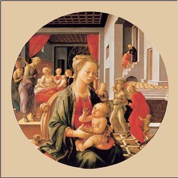 Reprodukce Panna s dítětem a výjevy ze života Sv. Anny