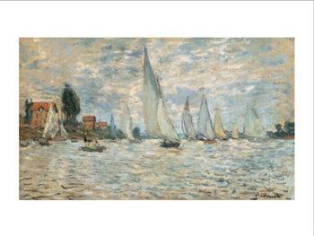 Regattas, Boats at Argenteuil, 1874, Obrazová reprodukcia