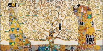 Reprodukce Strom života, Naplnění (Objetí), Čekání - vlys z paláce Stoclet, 1909