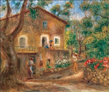 The Collette House in Cagnes, 1912, Obrazová reprodukcia