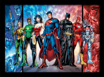 DC Comics - Justice League United oprawiony plakat