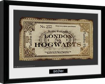 Harry Potter - Ticket oprawiony plakat