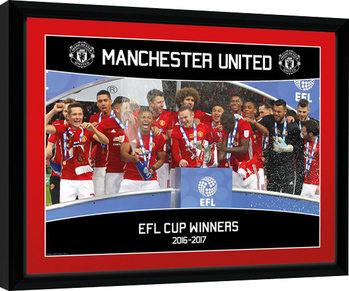 Manchester United - EFL Cup Winners 16/17 Zarámovaný plagát