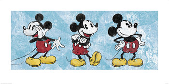 Obrazová reprodukce Mickey Mouse - Squeaky Chic Triptych