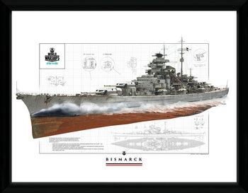 World Of Warships - Bismark zarámovaný plakát